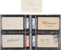 Autographs:Index Cards, 1950's-60's Baseball Hall of Famers & Stars Signed Index Card Lot of 5, PSA/DNA Encapsulated.... (Total: 5 items)