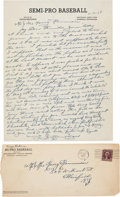 Baseball Collectibles:Others, 1938 Honus Wagner Handwritten & Signed Letter, PSA/DNA Mint 9. ...