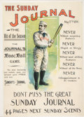 """Baseball Collectibles:Others, 1896 """"The Sunday Journal"""" Poster Featuring John Montgomery Ward...."""