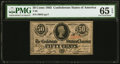 Confederate Notes:1863 Issues, T63 50 Cents 1863 PF-7 Cr. UNL PMG Gem Uncirculated 65 EPQ.. ...