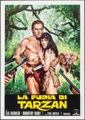 "Movie Posters:Adventure, Tarzan's Savage Fury (Capitol International, R-1970s). Folded, Very Fine+. Italian 2 - Fogli (39.25"" X 55"") Mario Piovano Ar..."