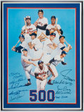 Autographs:Photos, 500 Home Run Club Multi-Signed Print (10 Signatures)....
