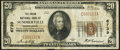 National Bank Notes:Pennsylvania, Summerville, PA - $20 1929 Ty. 1 The Union National Bank Ch. # 6739 Fine-Very Fine.. ...