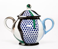 Roy Lichtenstein (1923-1997) Sugar Bowl, from Tea Set, 1984 Glazed ceramic 5 x 6 x 4-1