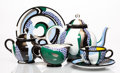 Fine Art - Sculpture, American:Contemporary (1950 to present), Roy Lichtenstein (1923-1997). Tea Set, group of six works, 1984. Glazed ceramics. 5-1/2 x 9-1/2 x 5 inches (14 x 24.1 x ... (Total: 6 Items)