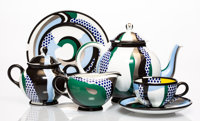 Roy Lichtenstein (1923-1997) Tea Set, group of six works, 1984 Glazed ceramics 5-1/2 x 9-1/2 x 5