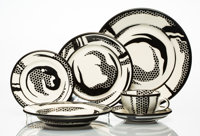 Roy Lichtenstein (1923-1997) Dinnerware, group of six works, 1966 Glazed ceramics 10-1/4 inches (