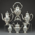 Silver & Vertu:Hollowware, A Six-Piece Tiffany & Co. Italian Pattern Silver Tea and Coffee Service, New York, circa 1869. Marks: TIFFANY ... (Total: 6 )