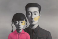Zhang Xiaogang (b. 1958) Untitled, from Bloodline: Big Family, 2007 Lithograph in colors