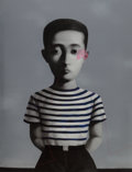 Prints:Contemporary, Zhang Xiaogang (b. 1958). Boy, from Bloodline: Big Family, 2006. Lithograph in colors on Arches paper. 53-7/8 x 40-3...