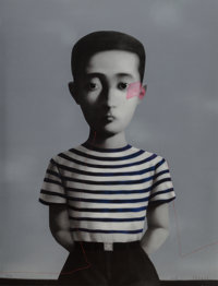 Zhang Xiaogang (b. 1958) Boy, from Bloodline: Big Family, 2006 Lithograph in colors on Ar