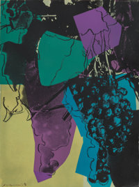 Andy Warhol (1928-1987) Grapes D.D., 1979 Screenprint in colors with diamond dust on Strathmore Bris