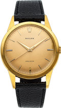 "Timepieces:Wristwatch, Rolex, Rare Ref. 9004 ""Oversized"" Precision, 36mm, 18k Gold, Circa 1960's. ..."