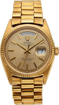 Timepieces:Wristwatch, Rolex, Oyster Perpetual Day-Date, 18k Gold, Ref. 1803/8, Circa 1978. ...
