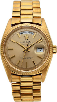 Rolex, Oyster Perpetual Day-Date, 18k Gold, Ref. 1803/8, Circa 1978