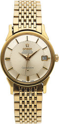 Timepieces:Wristwatch, Omega Ref. 168.005 Steel & Gold Constellation, Pie Pan Dial & Date, circa 1968. ...