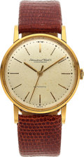 Timepieces:Wristwatch, International Watch Co. 18k Gold Vintage Automatic, circa 1960's. ...
