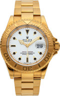 Timepieces:Wristwatch, Rolex, Ref. 16628 Yacht-Master With Tritium Triangles, Oyster Perpetual, 18k Gold, Circa 1995. ...