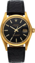 Timepieces:Wristwatch, Rolex, 18k Gold Oyster Perpetual Date, Ref. 1503/7, Circa 1971. ...