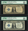 Small Size:Silver Certificates, Fr. 1603 $1 1928C Silver Certificate. PMG Very Fine 25;. Fr. 1604 $1 1928D Silver Certificate. PMG Choice Very Fine 35.... (Total: 2 items)