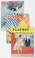 Magazines:Miscellaneous, Playboy Group of 5 (HMH Publishing, 1955) Condition: Average FN+.... (Total: 5 Items)