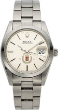 Timepieces:Wristwatch, Rolex, Oysterdate Ref. 6694, With San Miguel Beer Logo Dial, Stainless Steel, Circa 1984. ...
