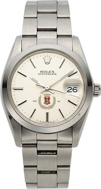 Rolex, Oysterdate Ref. 6694, With San Miguel Beer Logo Dial, Stainless Steel, Circa 1984