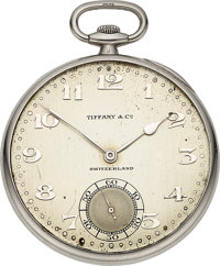 Patek Philippe & Co., Platinum Pocket Watch For Tiffany & Co., circa 1927