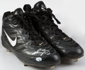Baseball Collectibles:Uniforms, 2001 David Ortiz Game Worn & Signed Cleats....