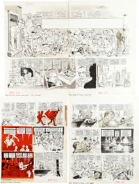 "Mort Drucker MAD #215 Near-Complete Story ""A Crock o' Blip Now"" (Apocalypse Now parody) Original Art G... (Tot..."