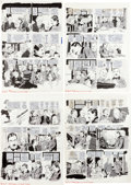"Original Comic Art:Complete Story, Angelo Torres MAD #178 Complete 7-Page Story ""Muddle on the Orient Express"" Original Art (EC..."