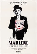 "Movie Posters:Documentary, Marlene (Alive Films, 1984). Rolled, Very Fine+. One Sheet (27"" X 41""). Autographed Michael Vollbrach Artwork. Documentary...."