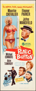 """Movie Posters:Comedy, Panic Button & Other Lot (Gorton Associates, 1964). Rolled and Folded, Overall: Fine/Very Fine. Inserts (2) (14"""" X 36""""). Com... (Total: 2 Items)"""