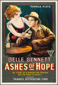 """Movie Posters:Western, Ashes of Hope (Triangle, 1917). Fine+ on Linen. One Sheet (27.75"""" X 41""""). Western.. ..."""