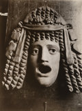 Photographs:Gelatin Silver, Jean Eugène Auguste Atget (French, 1857-1927). Masque Antique, 1890s-1920s. Gelatin silver, printed later by Bernice Abb...
