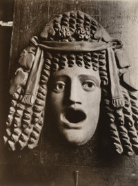 Jean Eugène Auguste Atget (French, 1857-1927) Masque Antique, 1890s-1920s Gelatin silver, printed later by Bernic...