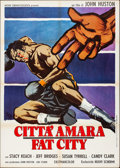 "Movie Posters:Sports, Fat City (Arden Cinematografica, 1973). Folded, Very Fine-. Italian 2 - Fogli (39.25"" X 55.25"") Sandro Simeoni Artwork. Spor..."