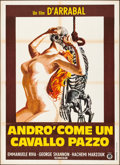 "Movie Posters:Foreign, I Will Walk Like a Crazy Horse (Gold Films, 1973). Folded, Fine/Very Fine. Italian 2 - Fogli (39"" X 55""). Foreign.. ..."