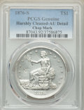 1876-S T$1 Chop Mark -- Harshly Cleaned -- PCGS Genuine. AU Details. NGC Census: (0/0). PCGS Population: (15/162)