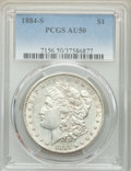 Morgan Dollars: , 1884-S $1 AU50 PCGS. PCGS Population: (1452/5546). NGC Census: (1027/5637). CDN: $155 Whsle. Bid for problem-free NGC/PCGS ...