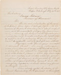 Autographs:Military Figures, Major General John A. McClernand Letter Signed ...