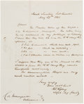 Autographs:Military Figures, Roswell S. Ripley Autograph Letter Signed ...