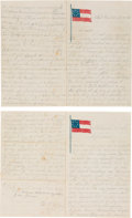 Autographs:Military Figures, Two Letters from Two Confederate Soldiers. ... (Total: 2 )