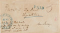 Autographs:Military Figures, Winfield Scott Addressed and Signed Cover. ...