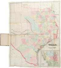 J. Eppinger & F.C. Baker. Map of Texas Compiled from Surveys Recorded in the General Land Office. 1852