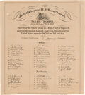 Miscellaneous, Andrew Johnson Impeachment Roster Issued by Senate Chamber....