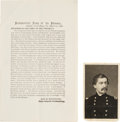 Military & Patriotic:Civil War, George McClellan Printed Order Issued the Day Following Approval for His Peninsula Campaign....