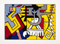 Roy Lichtenstein (1923-1997) American Indian Theme VI, from American Indian Theme, 1980 W