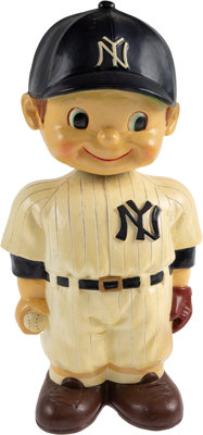 "1961-62 New York Yankees Oversized Promotional Nodder (14"")--Finest of Three Known!"