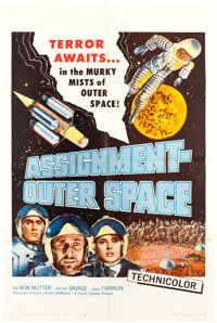 "Assignment Outer Space (Four Crown, 1962). One Sheet (27"" X 41"")"